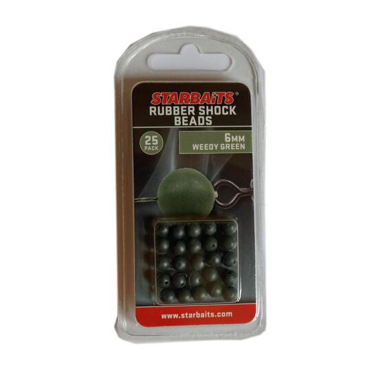 Accessoire voor vislijn Rubberkraal kaki 6 mm - 602495