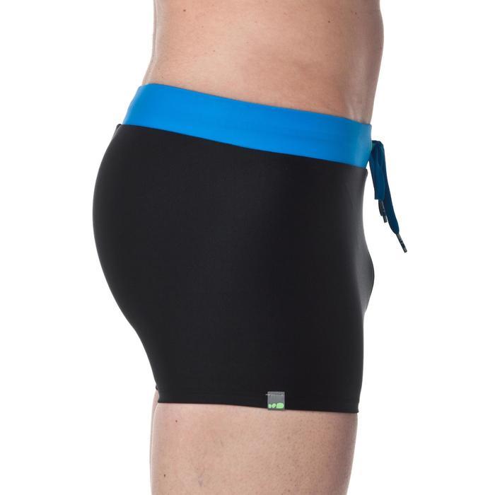 男款四角泳褲100 PEP-黑色/藍色