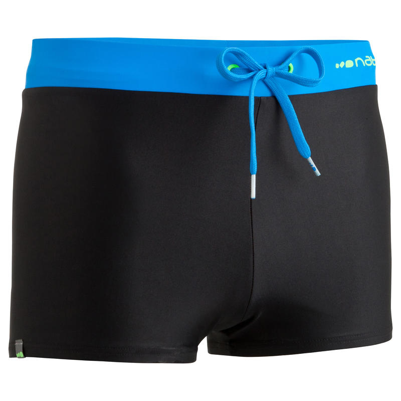 fc0c8b49b06c 100 PEP MEN'S BOXER SWIM SHORTS BLACK/BLUE