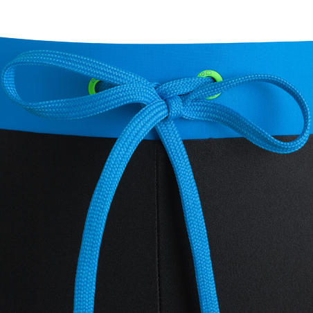 100 PEP MEN'S BOXER SWIM SHORTS - BLACK/BLUE