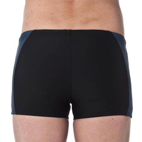 B-ACTIVE YOKE men's swim SHORTS - Black Orange