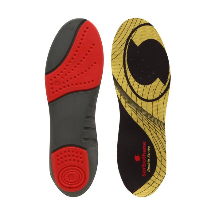 Semelles Amorti DOUBLE STRIKE noire et jaune - 603325