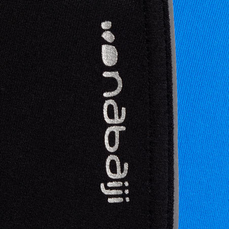 B-READY men's LONG swim SHORTS - Black Blue