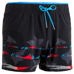 150 Men's Short Swim Shorts - Black/Red