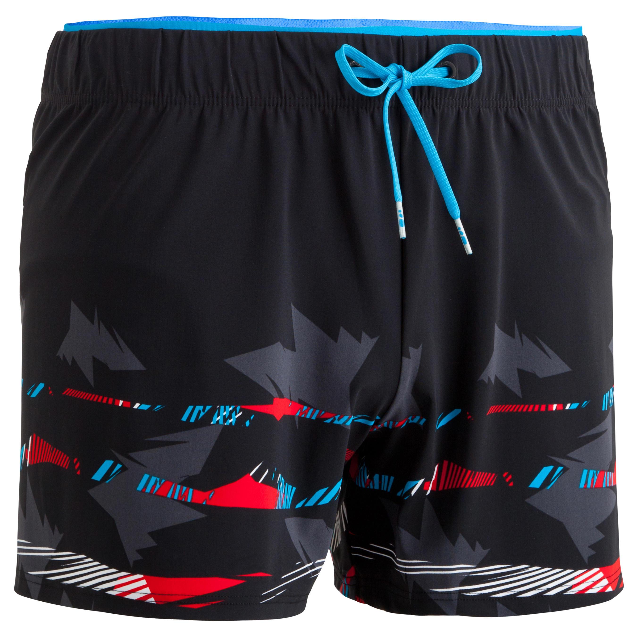 Zwemshort B-Free Plus zwart-rood