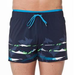 男款四角泳褲100-海軍藍