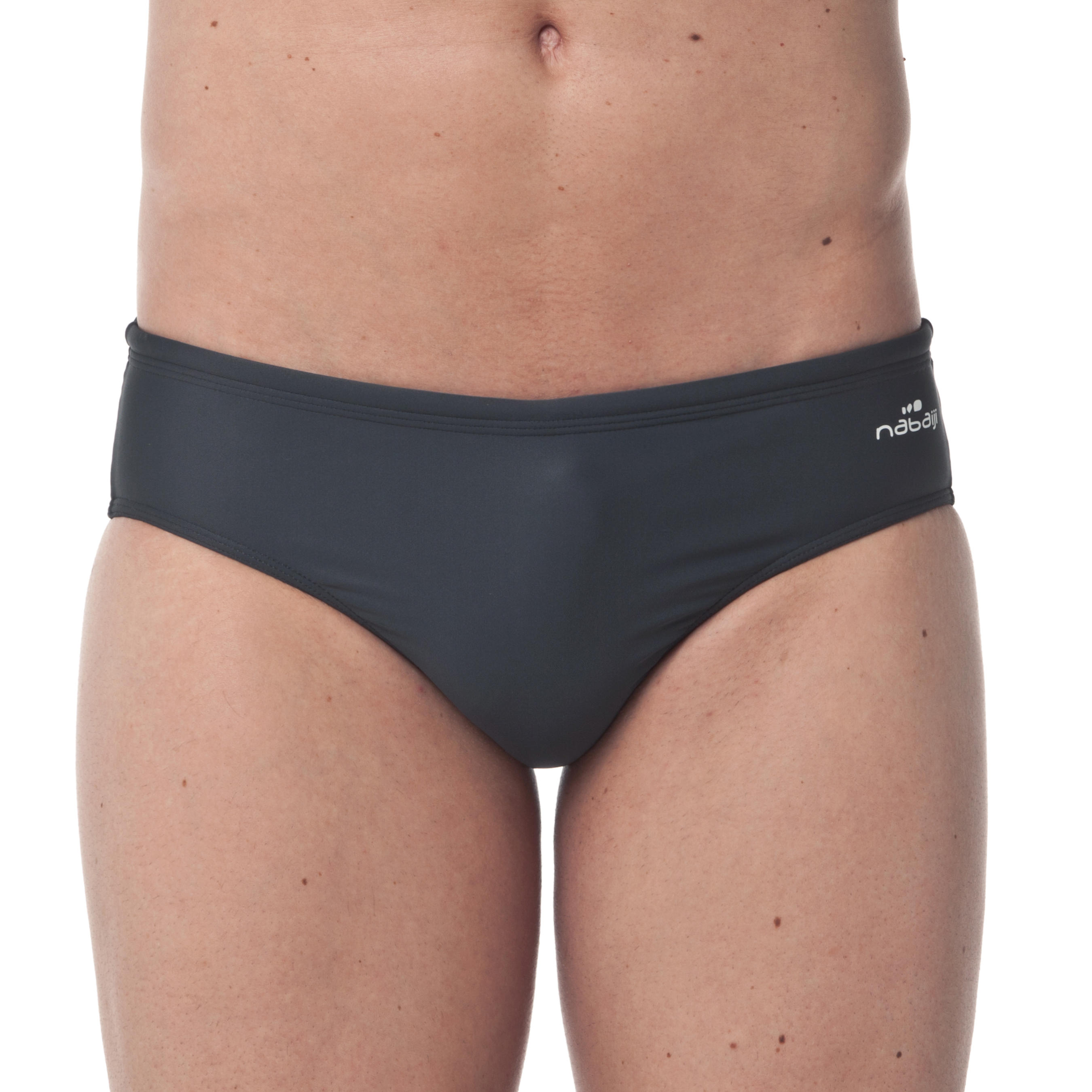 100 MEN'S SWIMMING BRIEFS - BASIC GREY