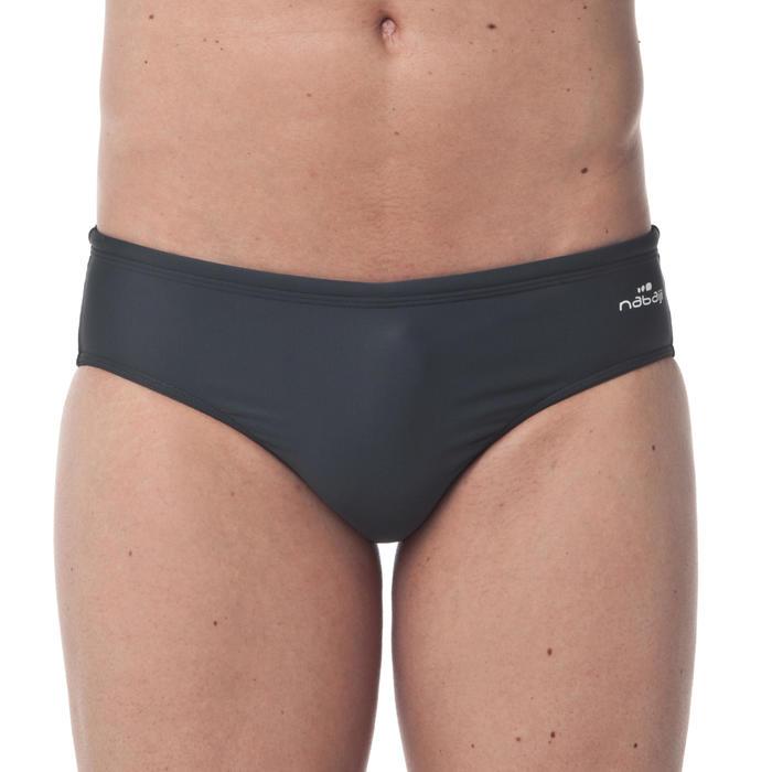 Zwemslip heren 100 Basic grijs