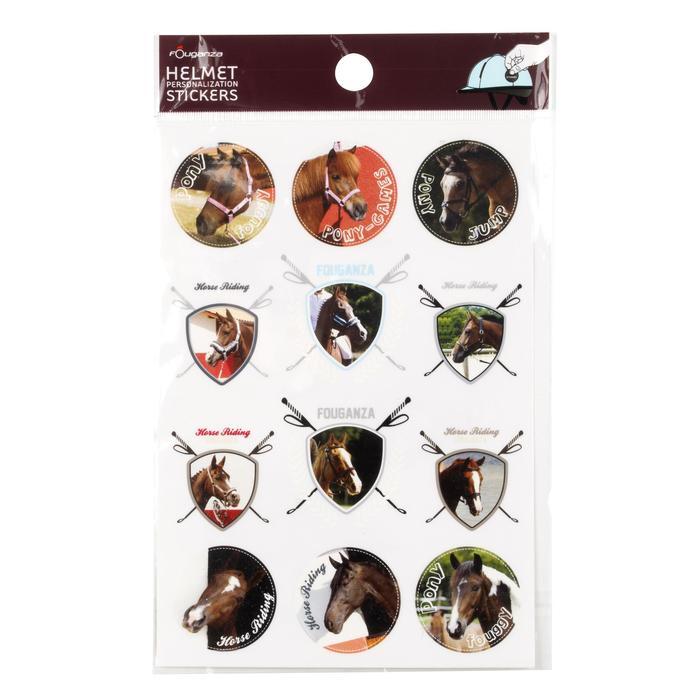 Pegatinas emblema caballos equitación niños