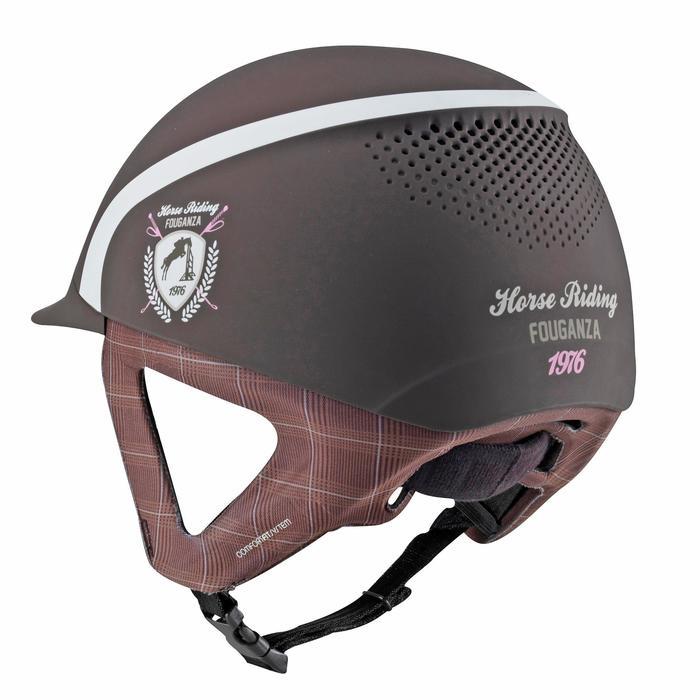 Casque équitation SAFETY CABRIOLE rouge et - 604762