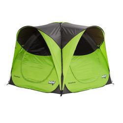 Shelter met deuren camping / trekking Seconds XL 6 personen UPF 30 groen - 605374