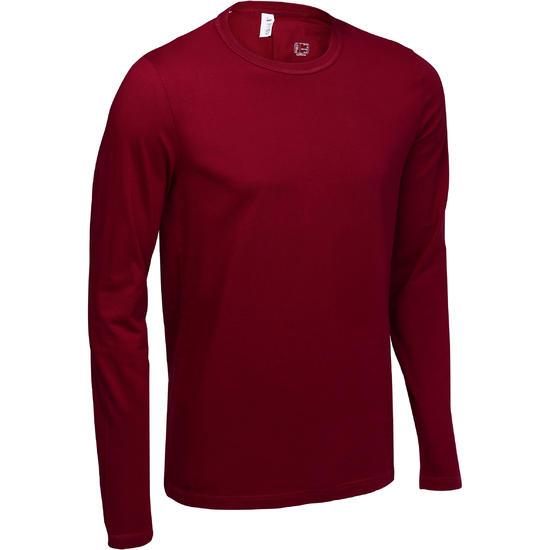 T-Shirt met lange mouwen Gym & Pilates heren - 60670