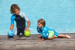 Zwempak met shorty jongens Kloupi blauw/blauwgroen - 607182