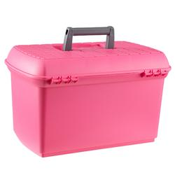 Maletín de limpieza equitación GB 500 rosa y gris