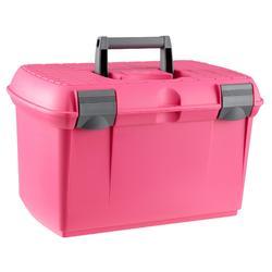 Verzorgingsbox ruitersport GB500 roze en grijs