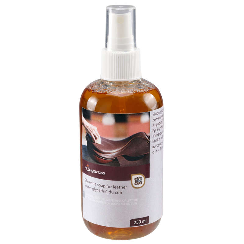 RIDING LEATHER/TEXTILE CARE Horse Riding - Glycerine Soap Spray - 250 ml FOUGANZA - Saddlery and Tack