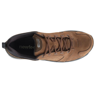 Nakuru Comfort Men's Fitness Walking Shoes - Brown Leather