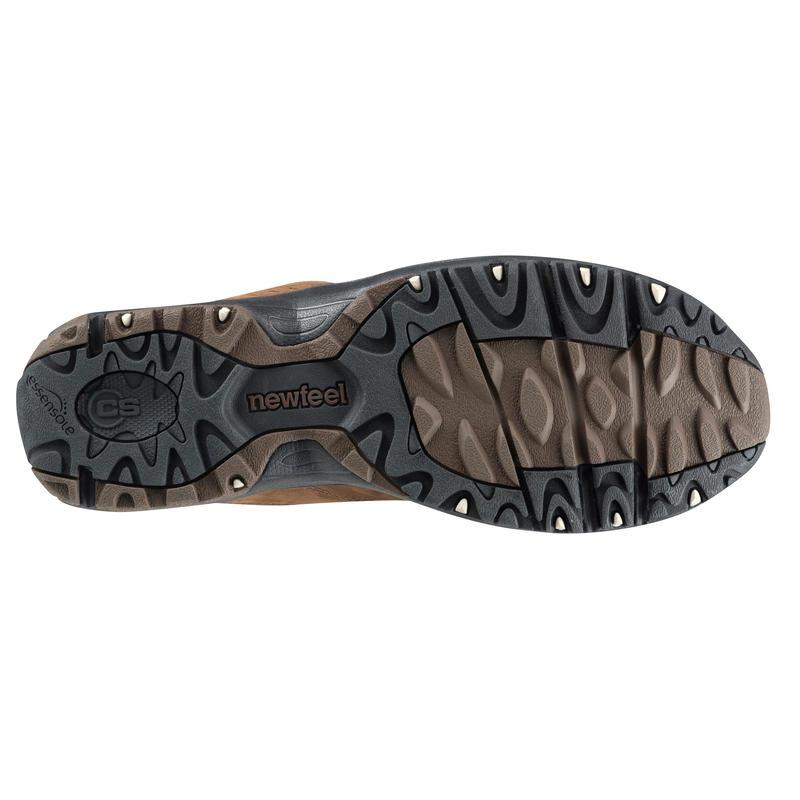 Men's Fitness Walking Shoes Nakuru Comfort Leather - Brown