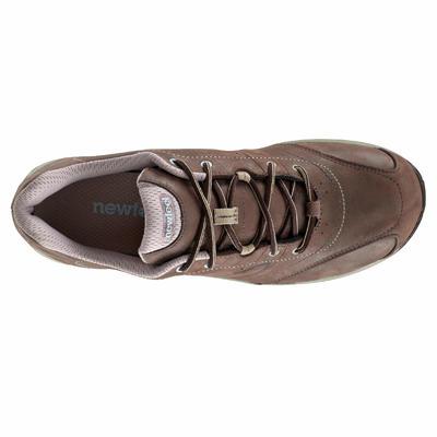 Nakuru Novadry women's fitness Waterproof Walking Shoes - brown/beige leather