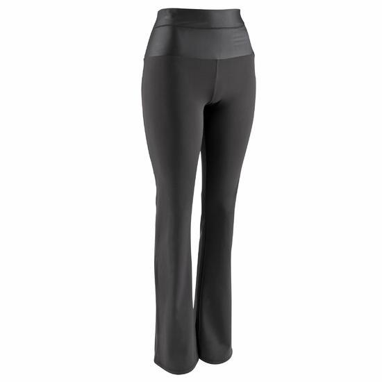 Fitnesslegging Shape+ met plattebuikeffect voor dames, regular fit, zwart - 609375