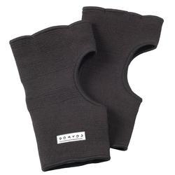 Paar binnenhandschoenen katoen zwart - 609509