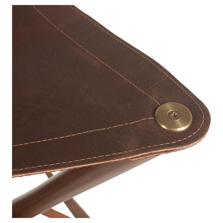 Hunting Leather Wood Tripod Stool 500