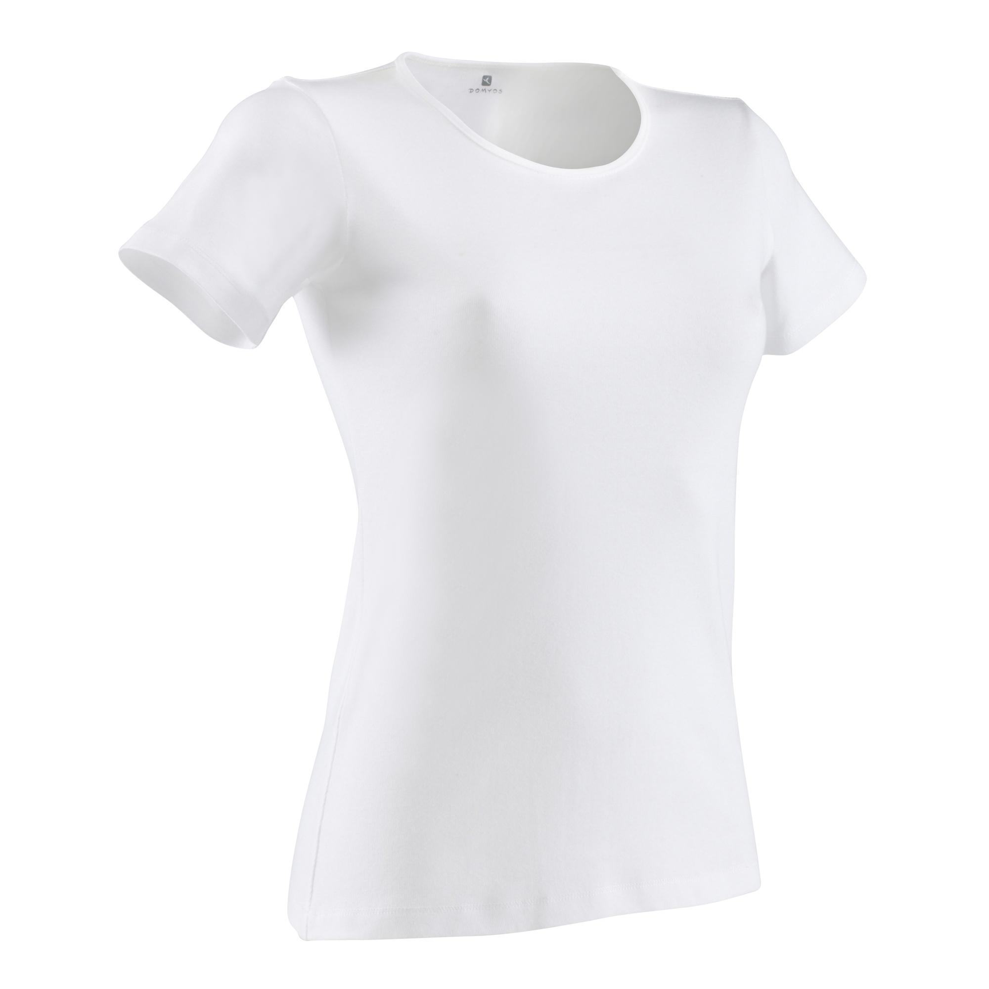 Domyos Dames T-shirt Sportee 100 voor gym en stretching