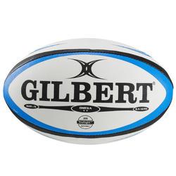 Rugbyball Omega Größe 5 blau/schwarz