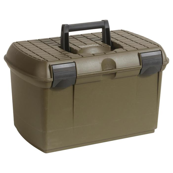 Maletín Transporte Cartuchos Caza Solognac 375 Cartuchos Plastico Verde