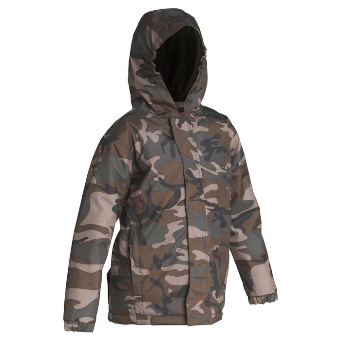 Veste chasse 100 junior camouflage vert - 613110