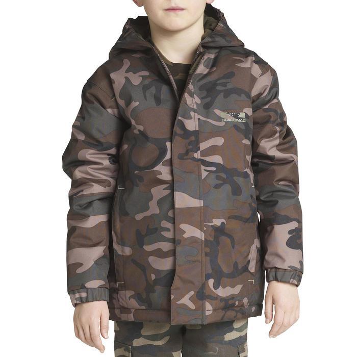 Veste chasse 100 junior camouflage vert - 613114