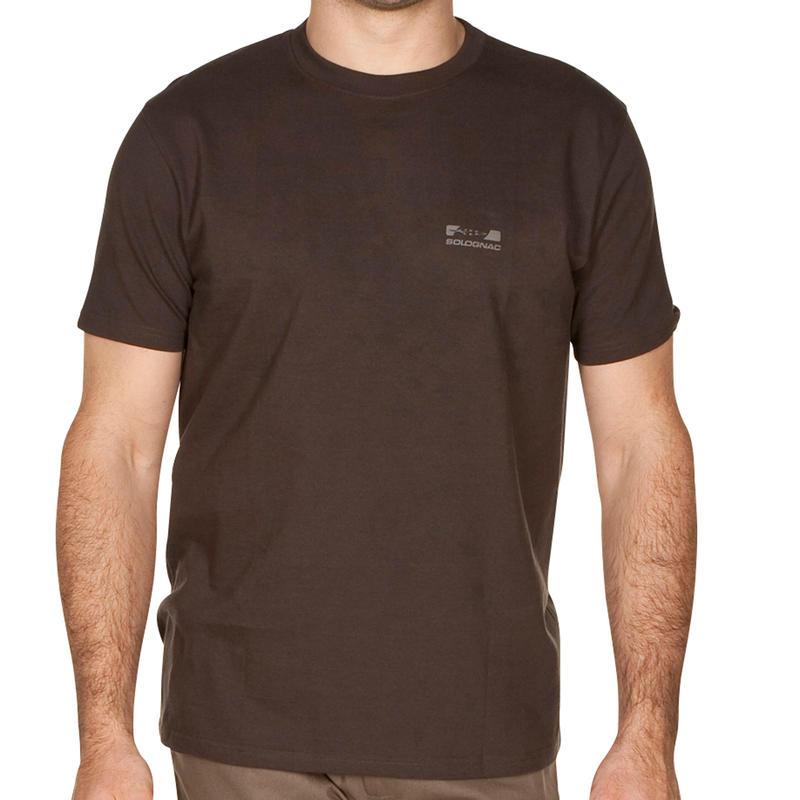 T-shirt manches courtes chasse 100 marron