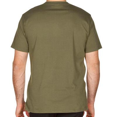 Camiseta Observación Solognac SG 100 Adulto Manga Corta Verde