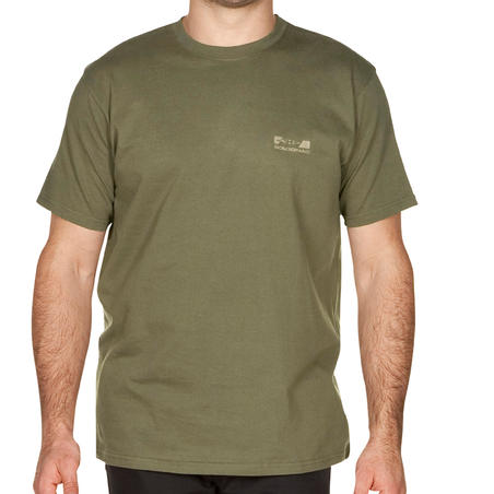 100 short-sleeved hunting t-shirt green