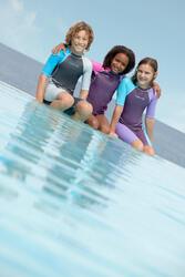 Zwempak met shorty jongens Kloupi blauw/blauwgroen - 615845