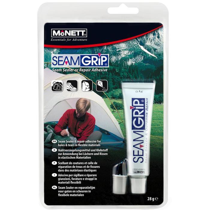 Reparatie van stoffen van tenten, rugzakken, jassen: Seam Grip