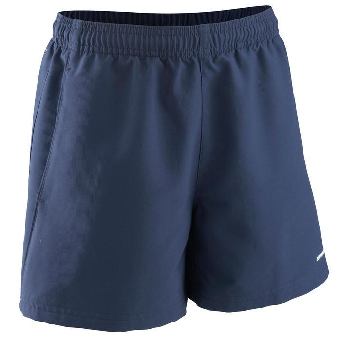兒童款網球短褲100-軍藍色