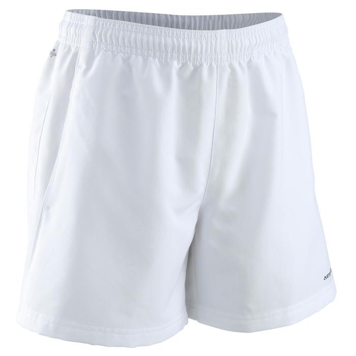 兒童款網球短褲100-白色