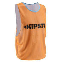 Omkeerbaar trainingshesje volwassenen blauw/oranje