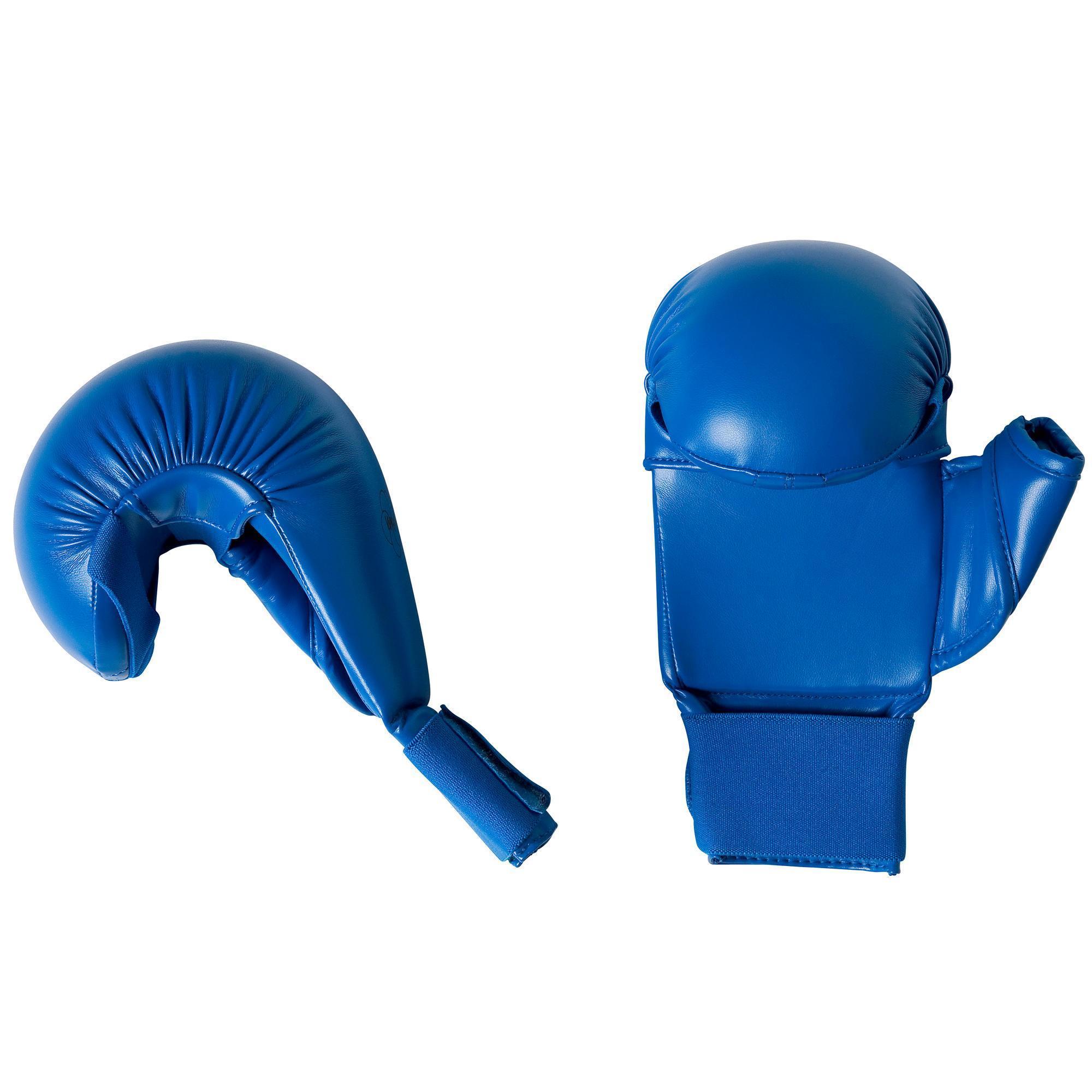Adidas Karatehandschoenen blauw