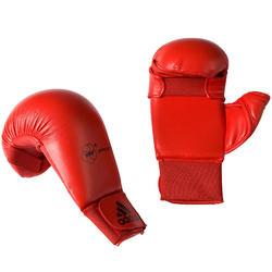 Karatehandschoenen met duim rood