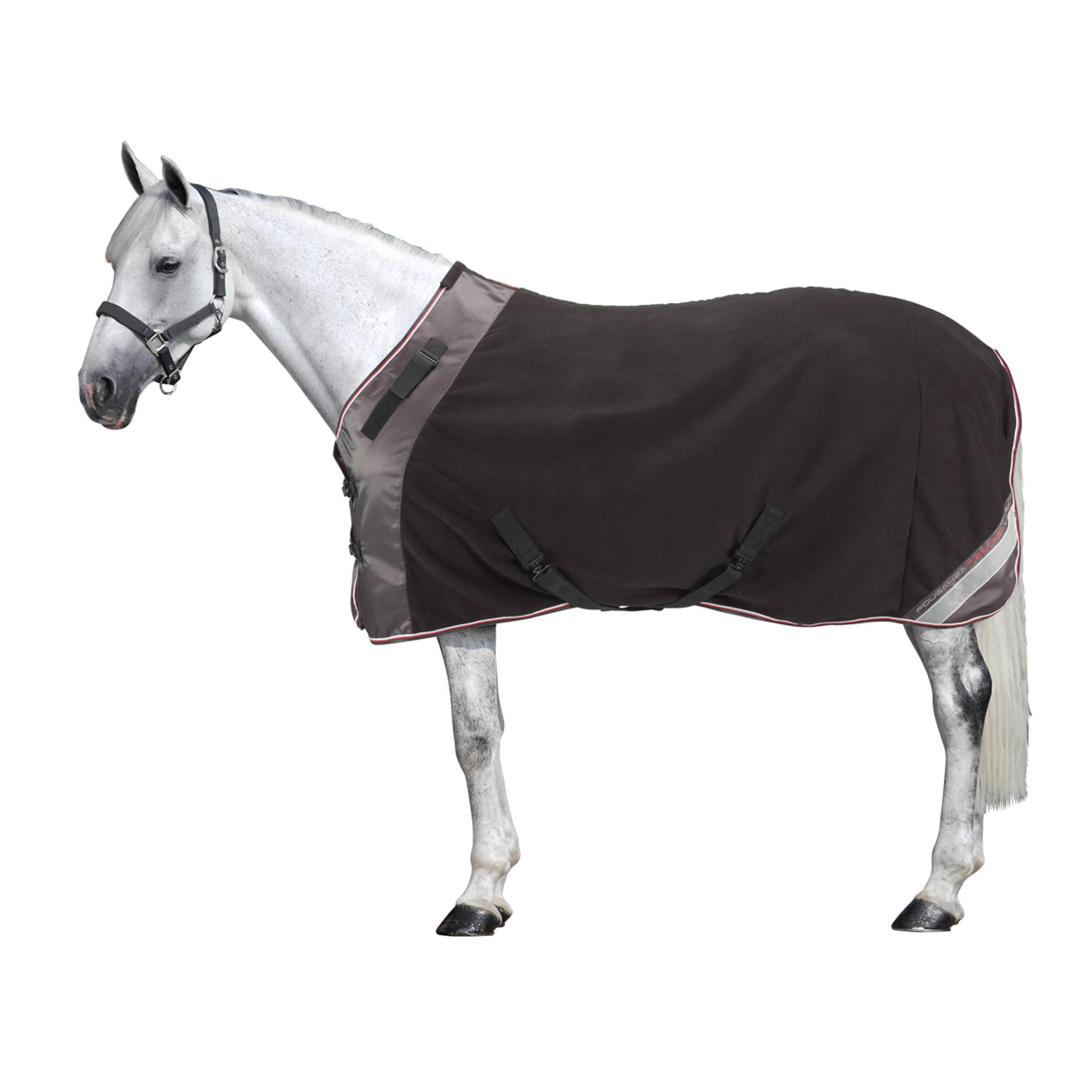 chemise d 39 curie quitation polar 800 noir gris poney et cheval fouganza. Black Bedroom Furniture Sets. Home Design Ideas