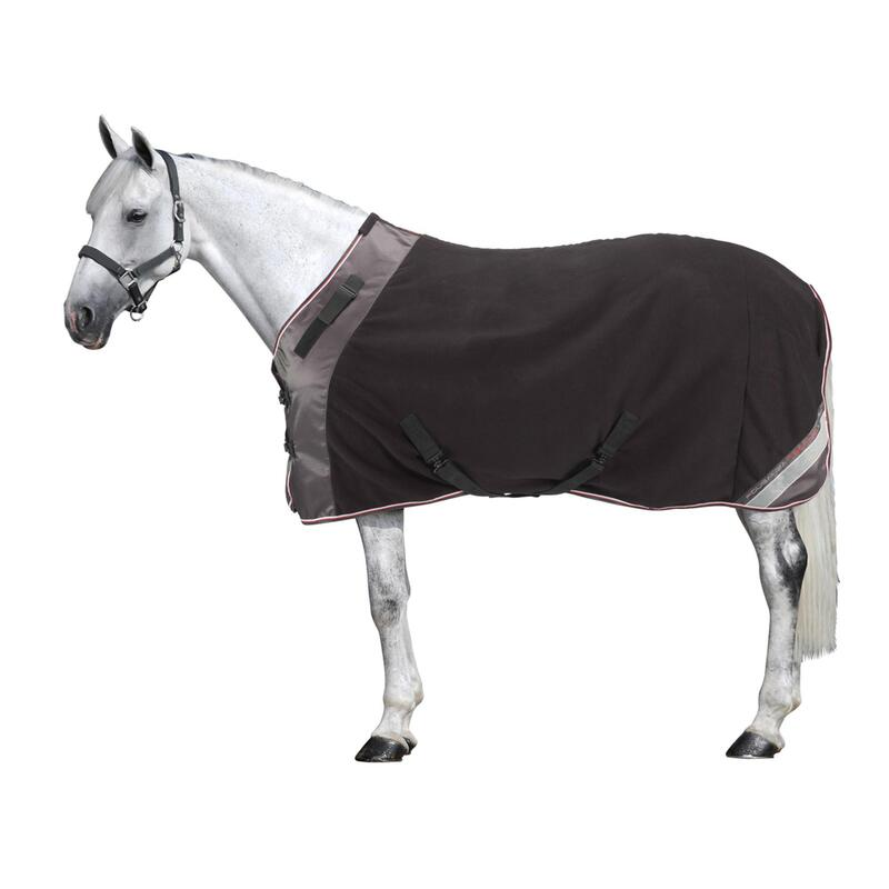 Polar 800 Horse Riding Stable Rug for Horses or Ponies - Black/Grey