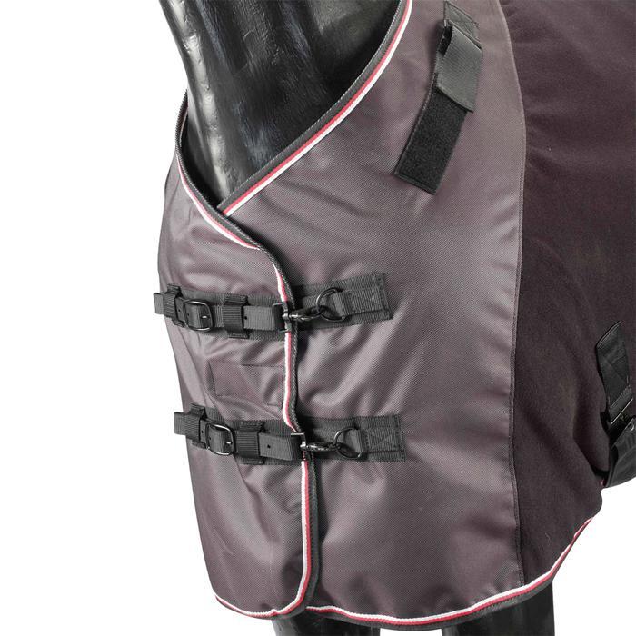 Chemise écurie équitation poney et cheval POLAR 800 noir / gris - 618460