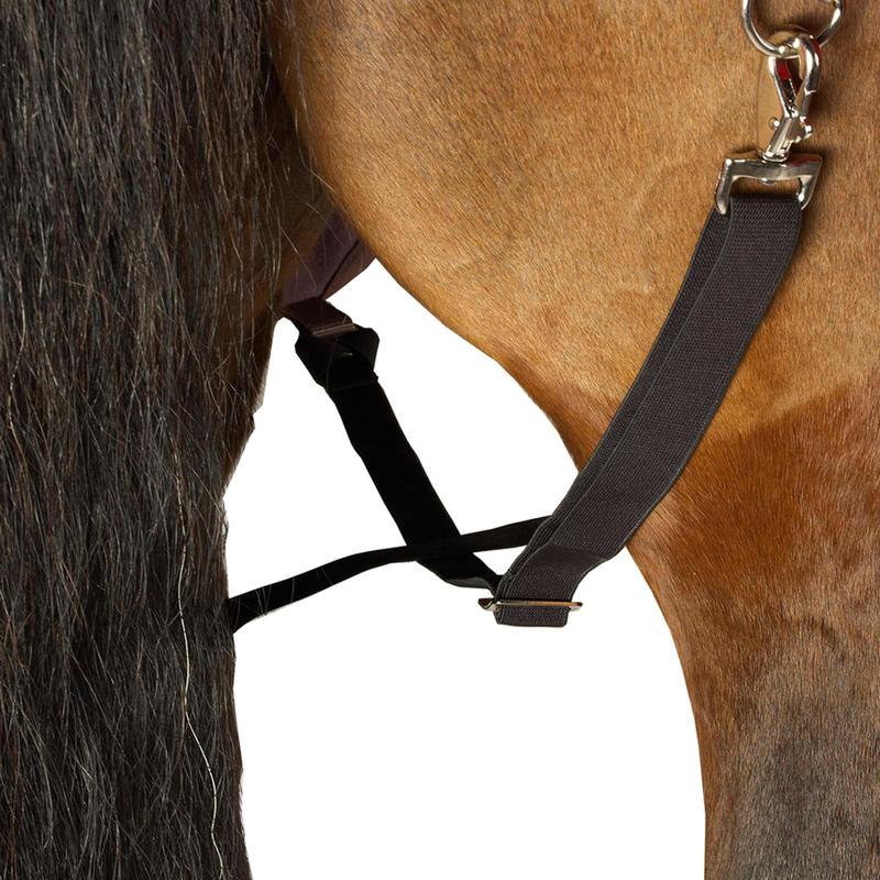 Manta delgada exterior imperm. equitación poni/caballo ALLWEATHER LIGHT café