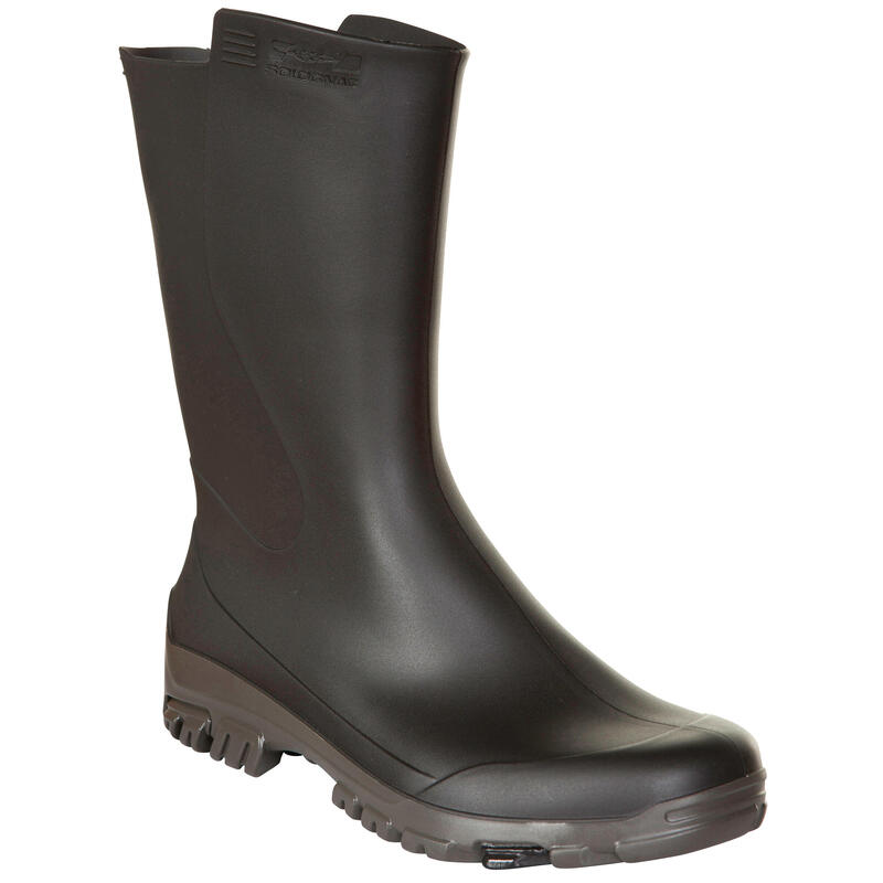 Botas Impermeables Solognac Inverness 100 Mujer Negro