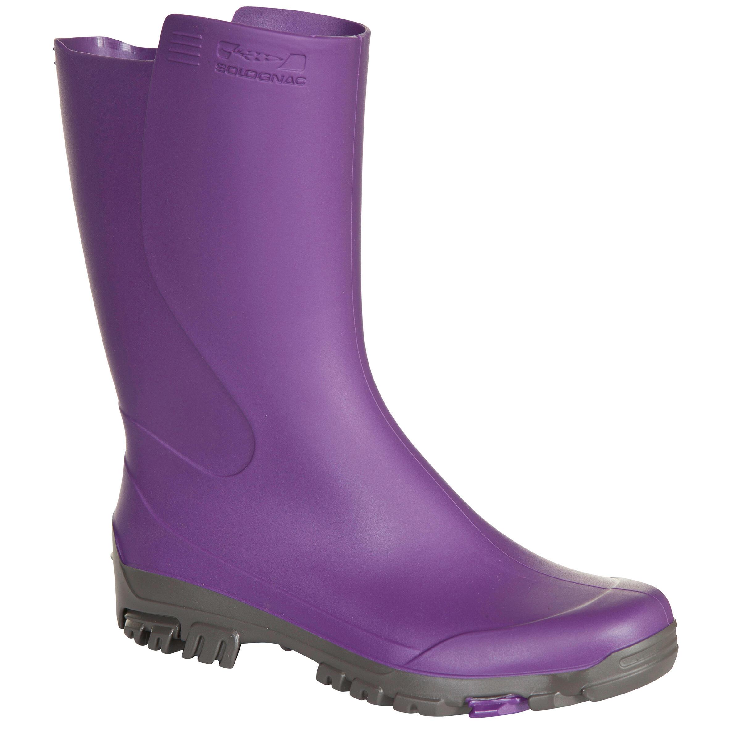 Gummistiefel Inverness 100 Gr. 35-42 violett | Schuhe > Gummistiefel | Violett | Solognac