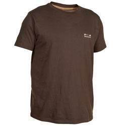 100 Short-Sleeved Hunting T-Shirt - Brown