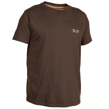 100 Short-Sleeved Hunting T-Shirt - Brown