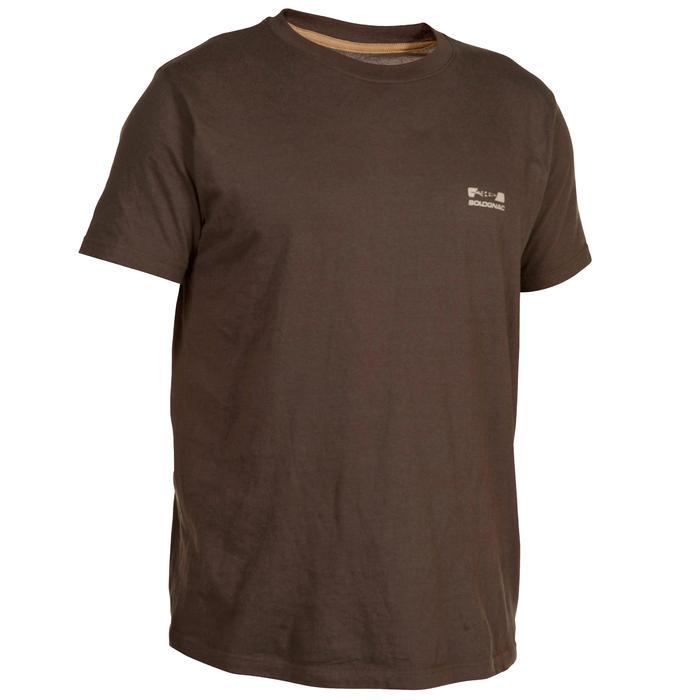Camiseta de caza de manga corta 100 marrón